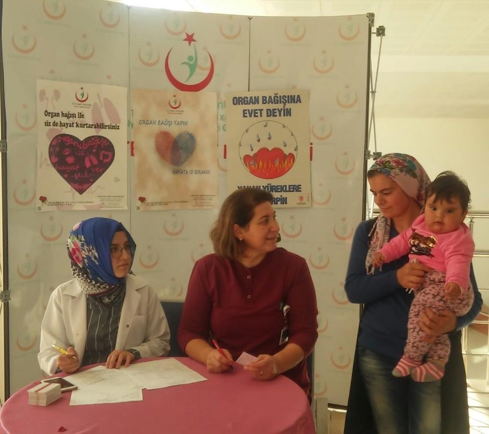 Korkuteli Devlet Hastanesi'nde organ bağışı standı kuruldu