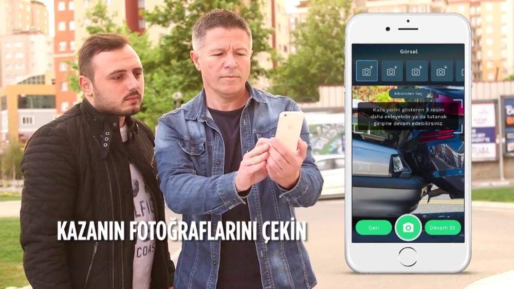 Maddi hasarlı kazalar için, mobil kaza tutanağı