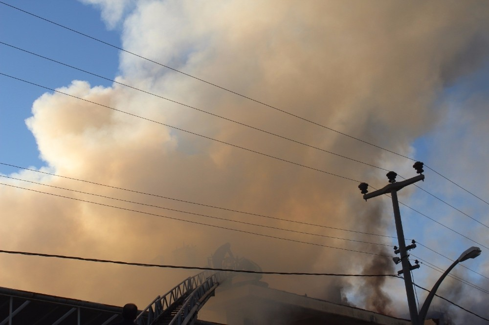 Manavgat'ta bulunan Sayıştay Tesisleri'nde yangın