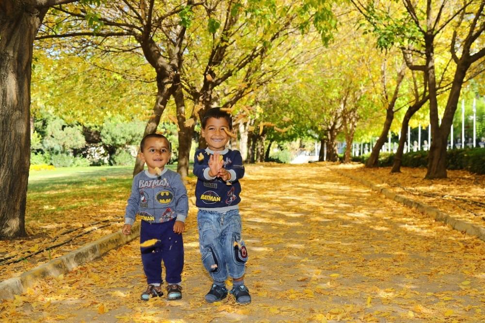 Manavgat'ta sonbahar bahçesi