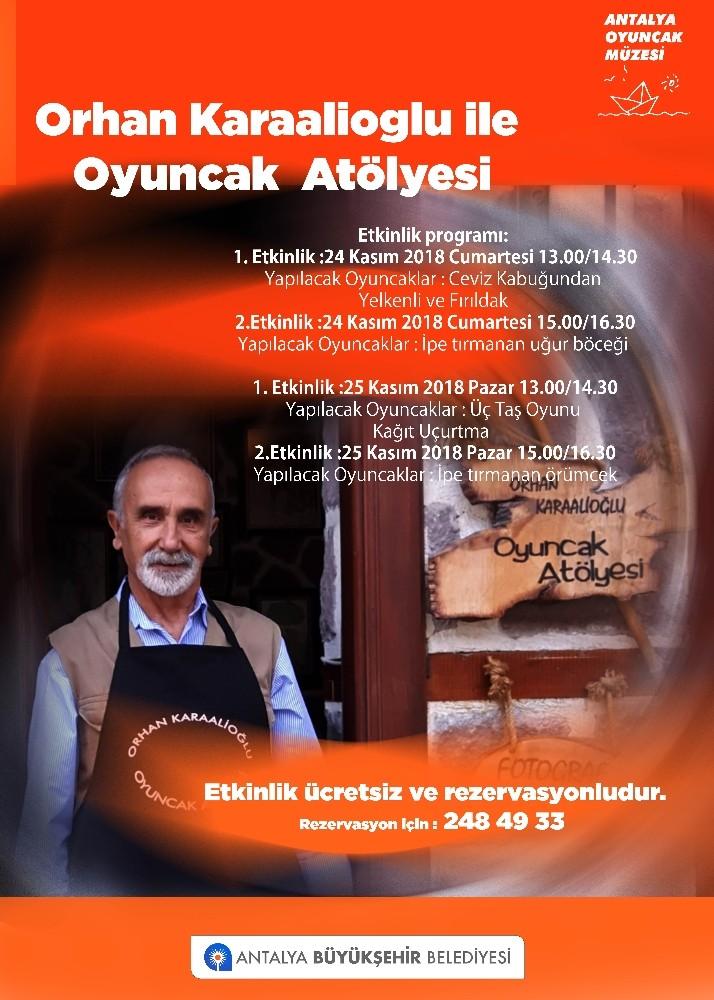 Orhan Karaalioğlu ile Oyuncak Atölyesi başlıyor