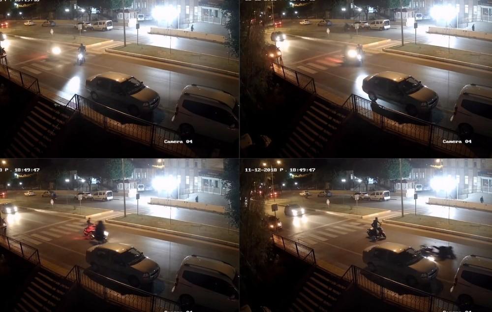 Yaya geçidinde motosikletler çarpıştı: 2 yaralı