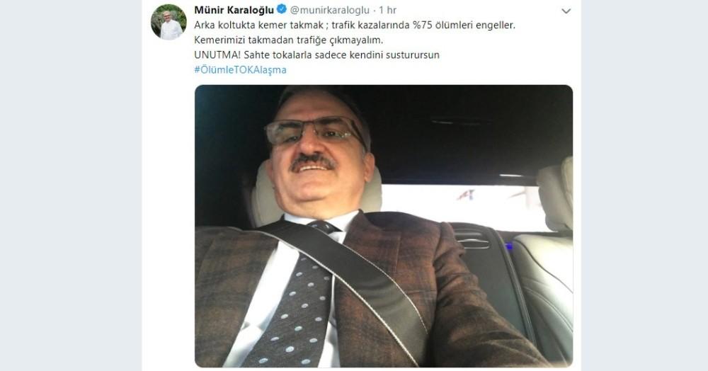 Antalya Valisinden emniyet kemerli paylaşım