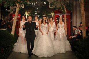 Antalya'da ünlü mankenlerden gelinlik defilesi