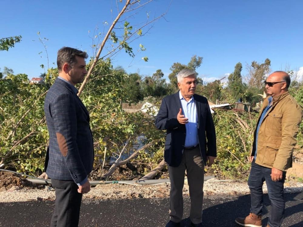 Başkan Çalık, fırtınadan zarar gören bölgeyi inceledi