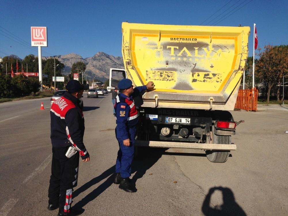 Jandarmadan 'ağır taşıt' denetimi