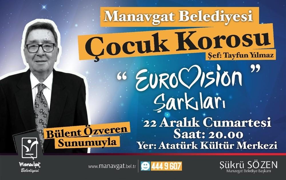 Manavgat Belediyesi'nden Eurovision şarkıları konseri