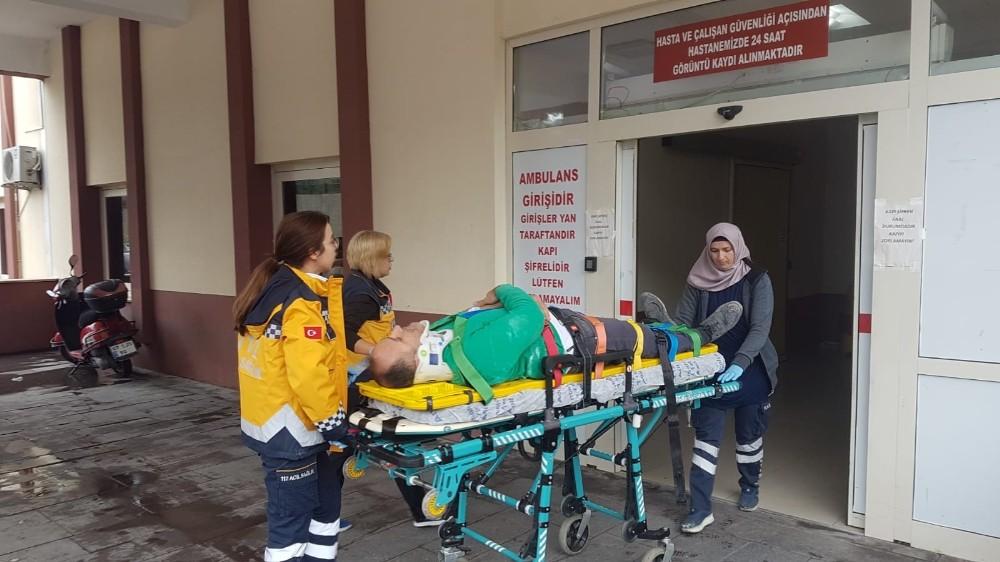 Manavgat'ta iş kazası: 1 yaralı