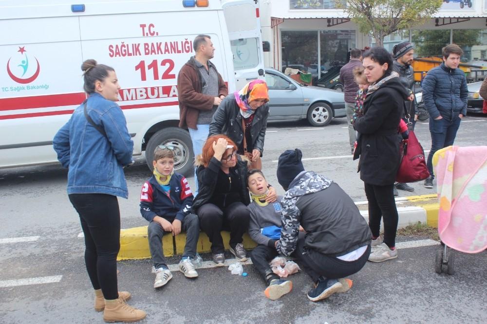 Manavgat'ta zincirleme trafik kazası: 5 yaralı