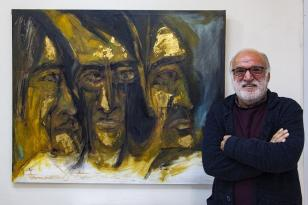 Ressamın eserleri halk kütüphanesinde sanatseverlerle buluştu