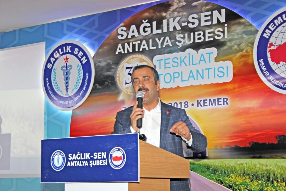 Sağlık-Sen 33. Teşkilat Toplantısı Antalya'da başladı
