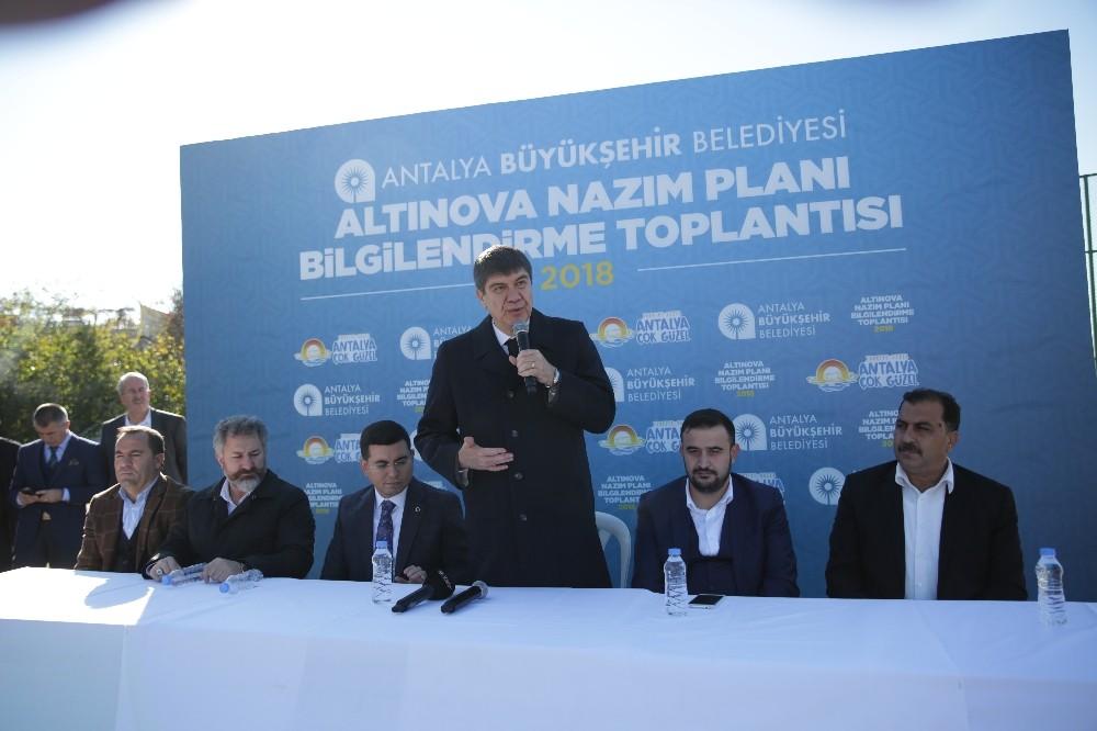 Türel'den Altınova'ya müjdeli haber