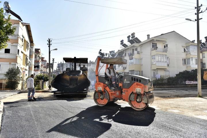 Etiler'de asfalt çalışması başladı
