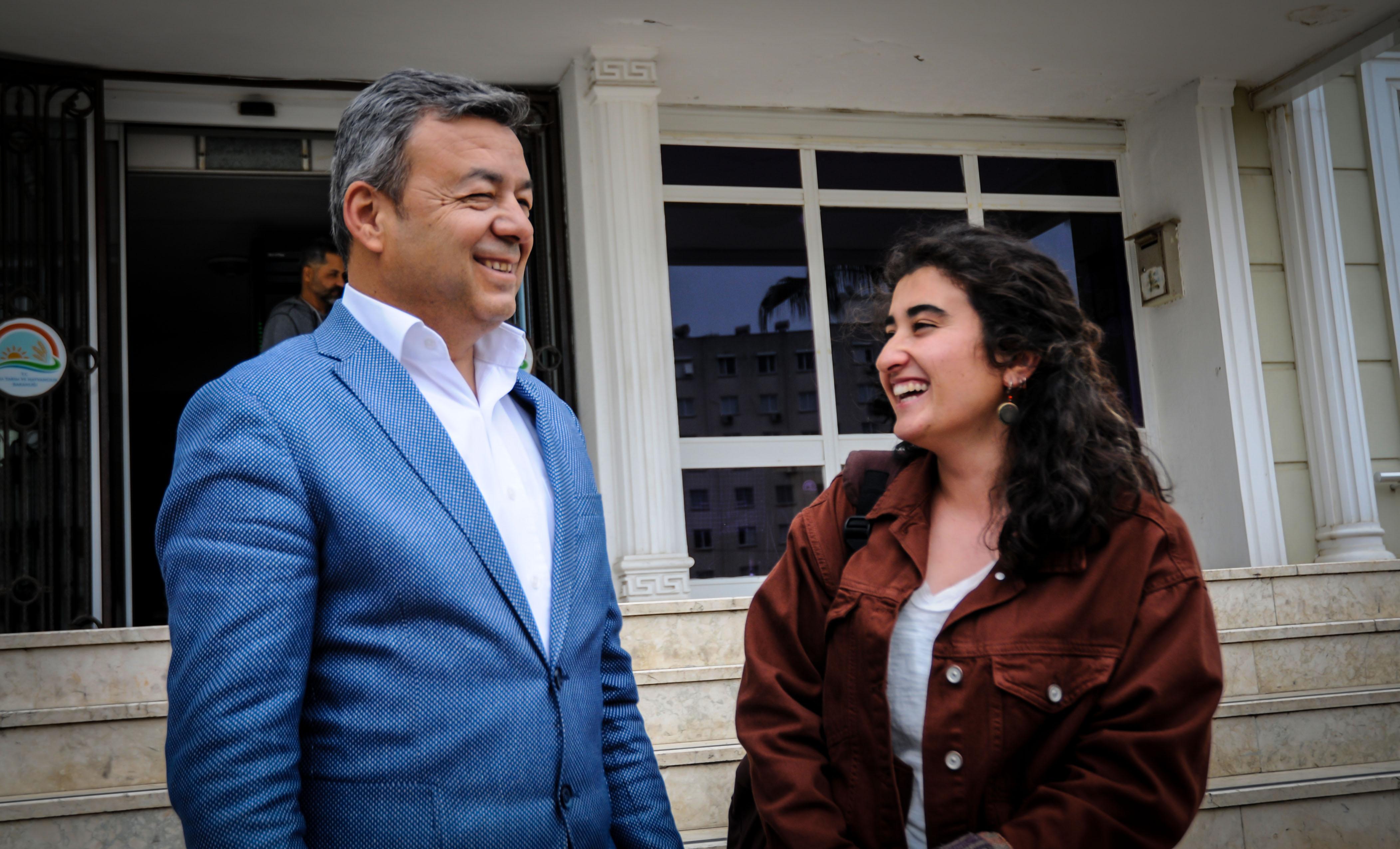 En Genç Kadın Muhtarı Şilan Arslan İl Müdürü Mustafa Özen'i Ziyaret Etti