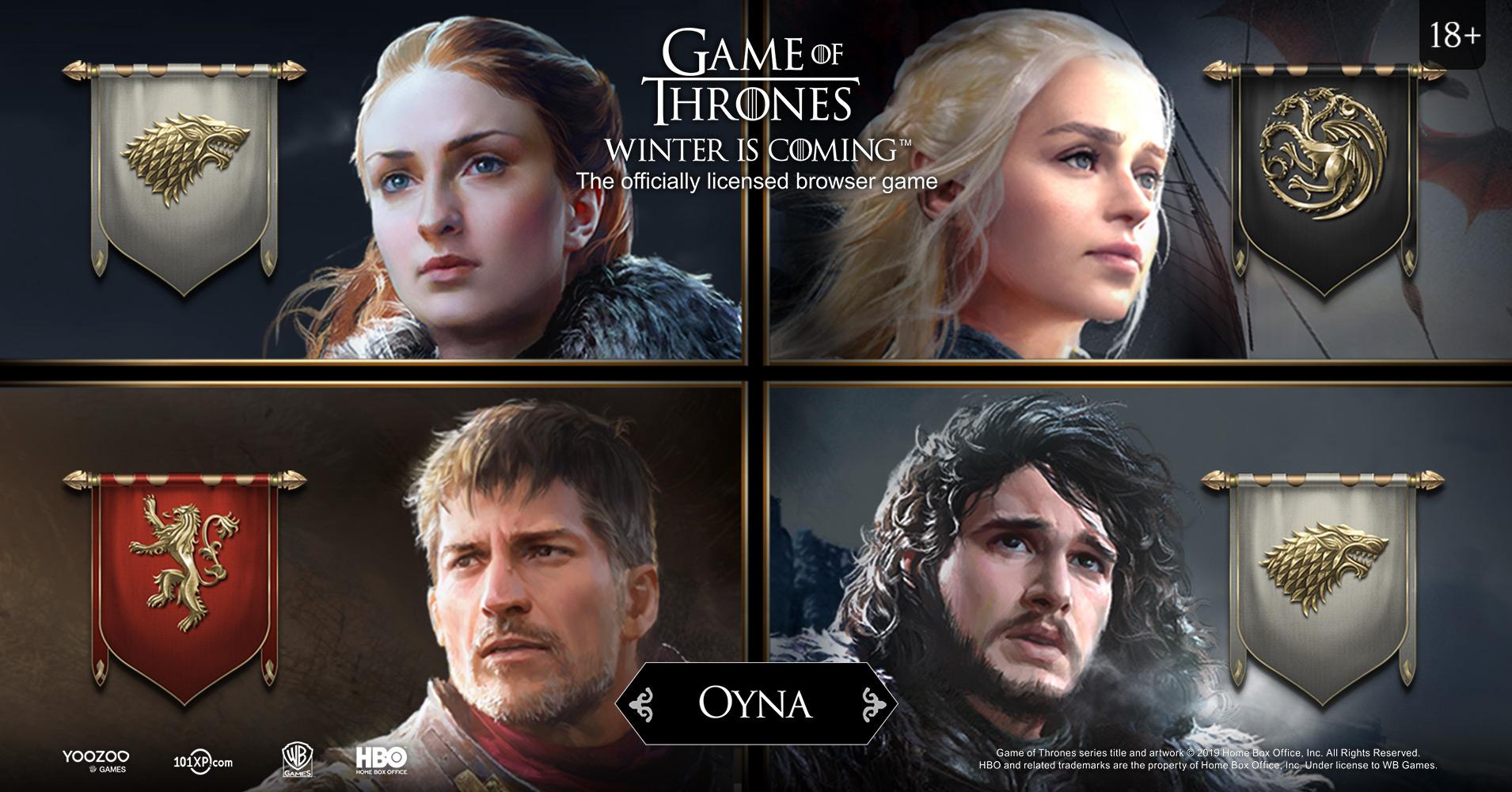 """101XP, Oyuncuları """"Game of Thrones: Winter is Coming"""" Dünyasına Davet Ediyor"""