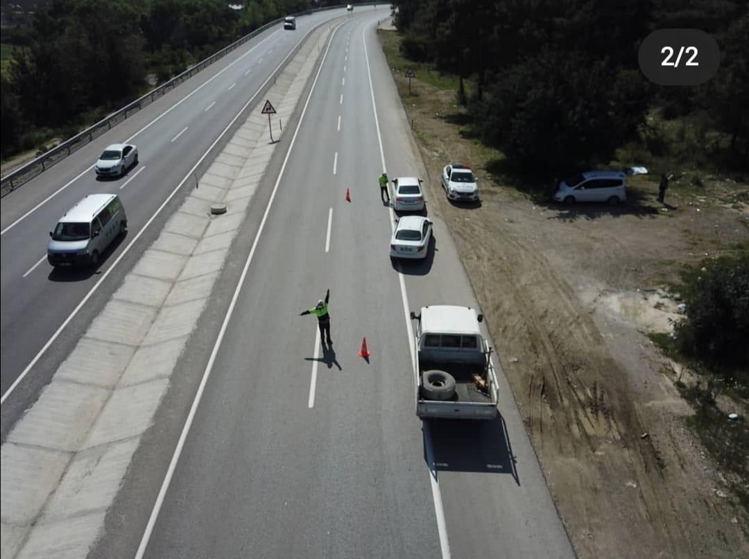 Bölge Trafik Denetleme Şube Müdürlüğümüzce Havadan ve Karadan Trafik Denetimleri Devam Ediyor