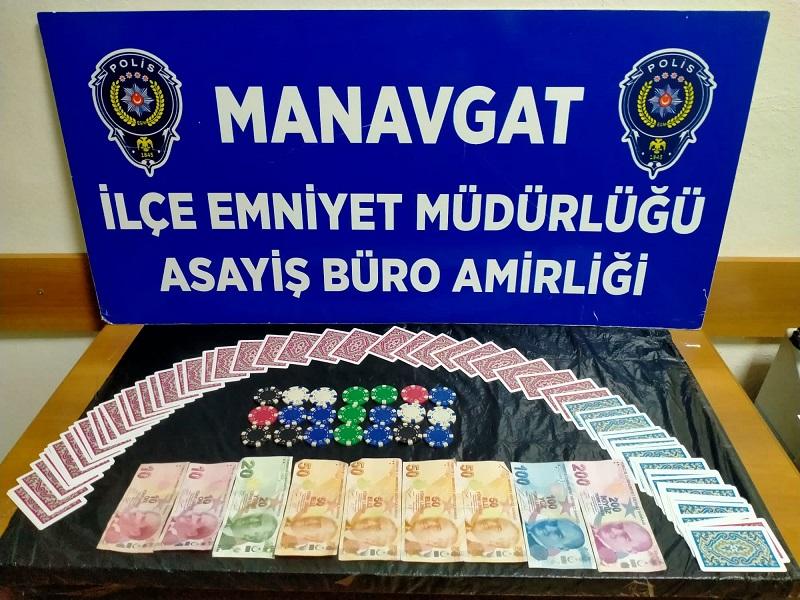 Manavgat İlçesinde Kumar Oynanan Bir Adrese Baskın Yapıldı